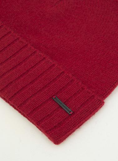 Silk and Cashmere Saf Kaşmir Up Basic Bere Saf Kaşmir Up Basic Eldiven Kırmızı